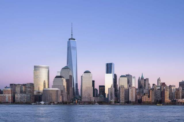 World Trade Center at dusk